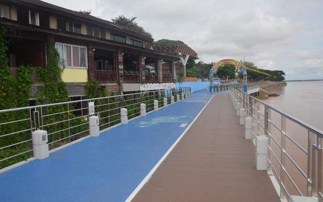 เส้นทางจักรยานเลียบริมฝั่งแม่น้ำโขง