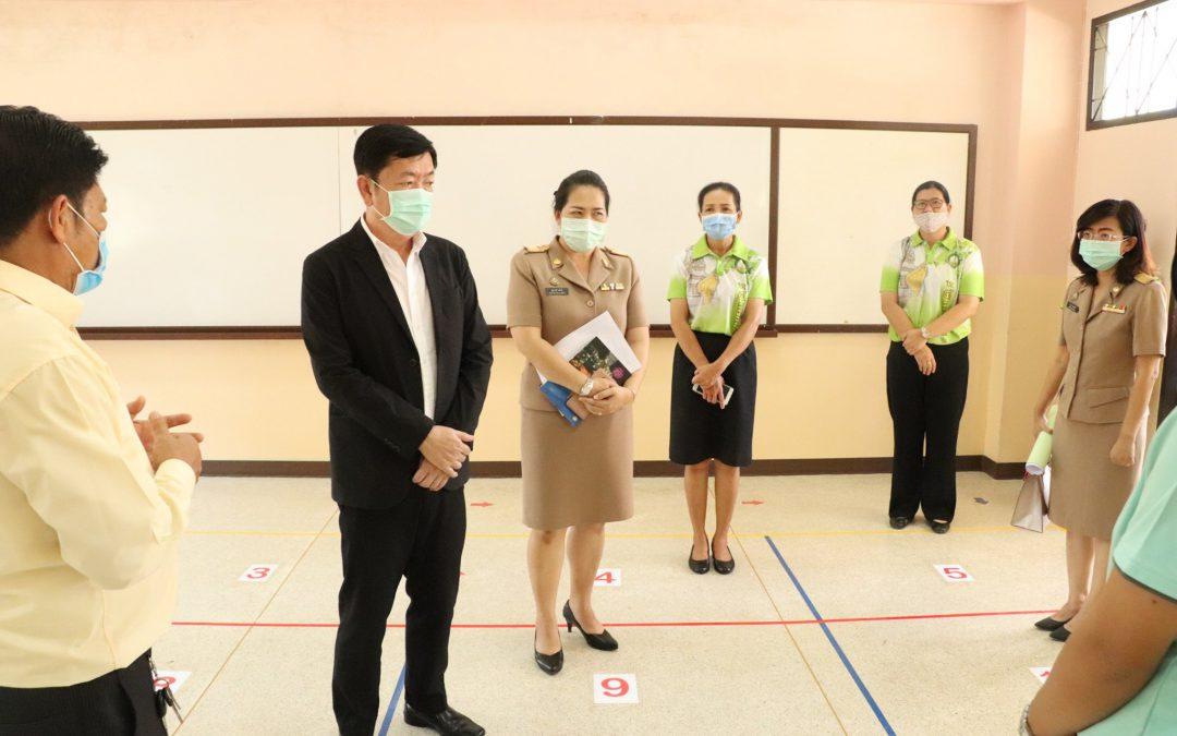 นายกเทศมนตรี ตรวจความเรียบร้อยในสถานศึกษา ก่อนเปิดภาคเรียน