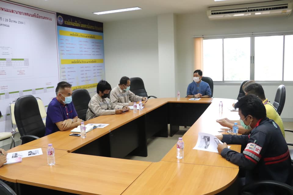เทศบาลเมืองนครพนม ร่วมหารือการจัดระเบียบสายไฟฟ้าฯ ในเขตเทศบาลเมืองนครพนม