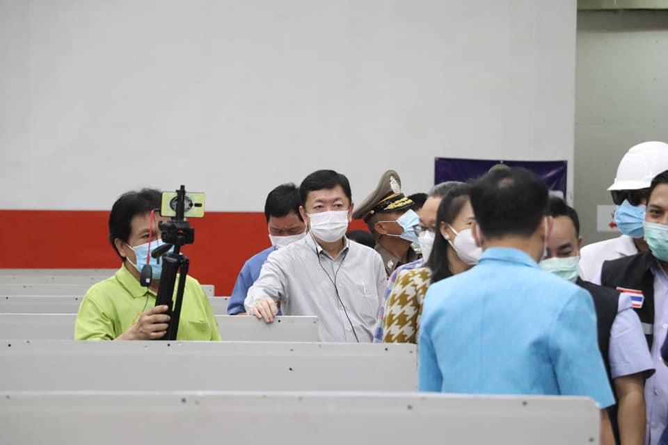 นายกเทศมนตรีเมืองนครพนม ร่วมเปิดโรงพยาบาลสนามจังหวัดนครพนม